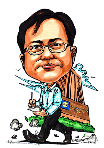 Caricature on PDA for Monetory Authorityof Singapore