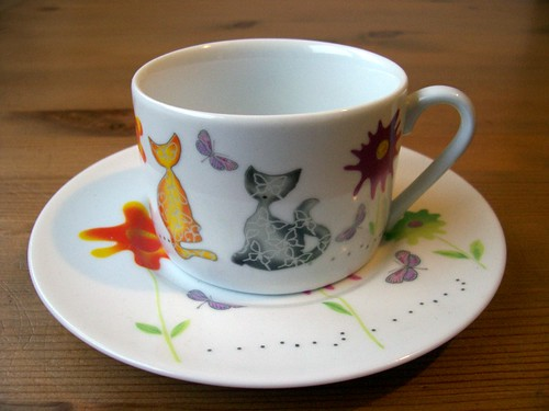 Saucer and cup