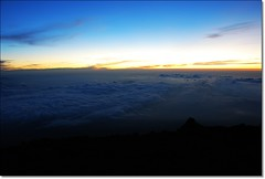 Sunrise. (NgirNgir) Tags: morning travel blue sky mountain nature japan clouds sunrise trek dawn daylight nikon scenery rocks earth horizon trail mountaineering mtfuji slopes firstlight d80 ngirngir