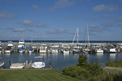 the harbor at leland