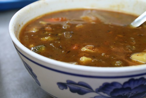 Vegetable Curry Peanut Soup