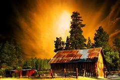 flaming art (Kris Kros) Tags: california bear ca sky usa cloud tree art barn photoshop print photography gold golden big high nikon bravo searchthebest dynamic artistic canvas flame socal kris 2008 range flaming hdr available kkg the d300 cs3 photomatix kros kriskros 5xp kk2k kkgallery