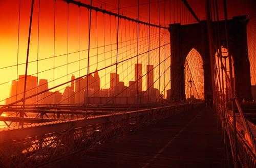 Birdge At Sunset Brooklyn Bridge at sunset