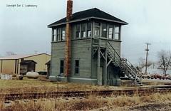 Illinios Central Railroad, and New York, Chicago & St. Louis Railroad (Norfolk & Western Railway), Illinois, Ramsey (14,211) (EC Leatherberry) Tags: railroad illinois illinoiscentralrailroad norfolkwesternrr diamondcrossingtower