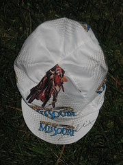 Tour of Missouri bicycling cap signed by rider David Veilleux