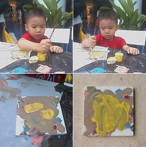 Little Buddy's Tile Painting