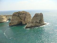 Rouche Beirut (SaudiSoul) Tags: sea lebanon mountain beach beirut لبنان البحر بيروت جبل rouche الروشه