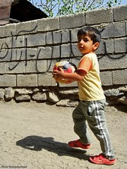... (Moein Mn) Tags: game sport ball fun persian colorful child play iran persia mazandaran volleyball iranian puncture semnan  moein chilren            lerd    khatirkooh  moeinmohammadnejad   kamrud  komrud