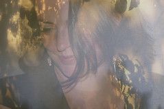 Lady of The Leaves and Shadows (BasiliskSam) Tags: portrait leaves shadows veiled beautifulwoman enigmatic mostbeautifulwomen