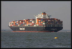 Savannah Express (leightonian) Tags: uk island boat ship unitedkingdom isleofwight solent gb containership isle cowes wight buoyant