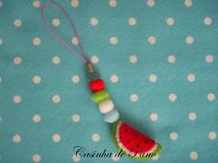 Encomenda (Casinha de Pano) Tags: frutas handmade felt melancia feltro pingenteparacelular
