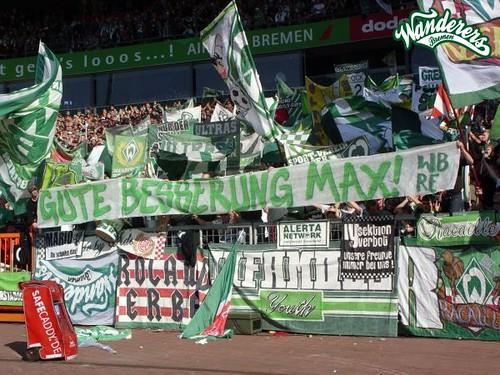 Spruchband: Wanderers & Rolands Erben - Für Max Lorenz