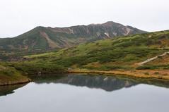 当麻岳から安足間岳への稜線