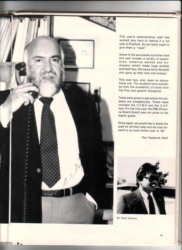 1987 1988 Fremont Jr High School Yearbook 725 West Franklin Street Pomona, California 91766