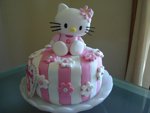 images of hello kitty cakes. Hello Kitty Birthday Cake