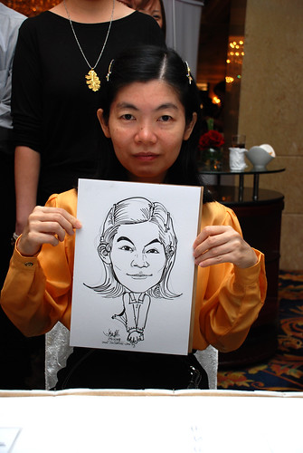 Caricature live sketching for Great Eastern Life D&D 2008 4