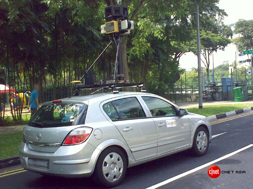 Google Street View car spotted in Singapore