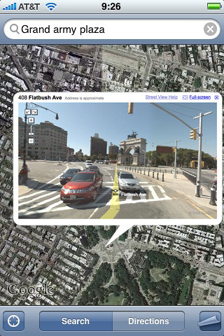 iPhone 2.2 Firmware Beta Includes Google Street View Feature 2