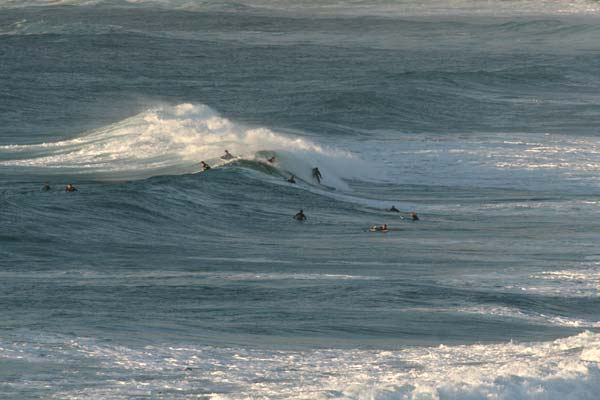 Surfers at Sennen Cove