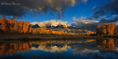 (David Barrow) Tags: reflection fall water sunrise landscape searchthebest snakeriver tetons jacksonhole grandtetonnationalpark blueribbonwinner schwabacher abigfave