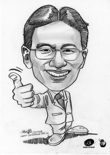 Caricatures Web in Travel 2008 Gerry Oh