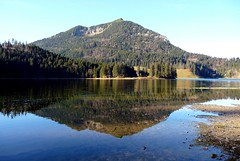Brecherspitz mirrored in Spitzingsee (Claude@Munich) Tags: mountain lake alps reflection germany geotagged bayern deutschland bavaria see oberbayern upperbavaria spiegelung spitzing miesbach spitzingsee prealps claudemunich brecherspitze mangfallgebirge brecherspitz absolutelystunningscapes geo:lat=47661666 geo:lon=11886445