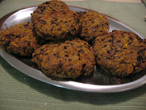 Spicy Black-Bean Cakes, Crispy and Ready to Eat
