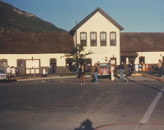 The Durango Colorado train station. July 1981.