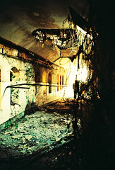 Tunnel in St. Kevin's (Cormac Phelan) Tags: ireland abandoned film 35mm lomo lca xpro lomography lka decay cork tunnel asylum derelict phelan cormac
