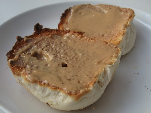 Pan de Sal and Peanut Butter