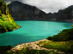 Mt. Pinatubo (the-earth-colors) Tags: blue sky mountain lake green colors beauty canon landscape volcano earth philippines scene ixus ridge vision crater pikes vulcan pinatubo luzon pampanga glendon erruption elevate explored visiongroup 810is macquinto