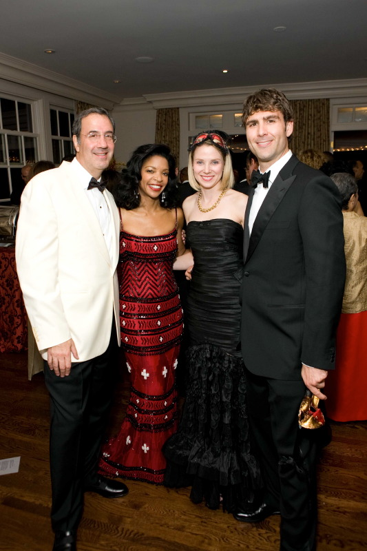 Inside This Year's Masked Ball, The masked ball that Fred Giuffrida and Pamela Joyner (shown here with Marissa Mayer and Zachary Bogue) hosted in their beautiful home last week raised approximately $200,000 for the Making Waves Foundation.