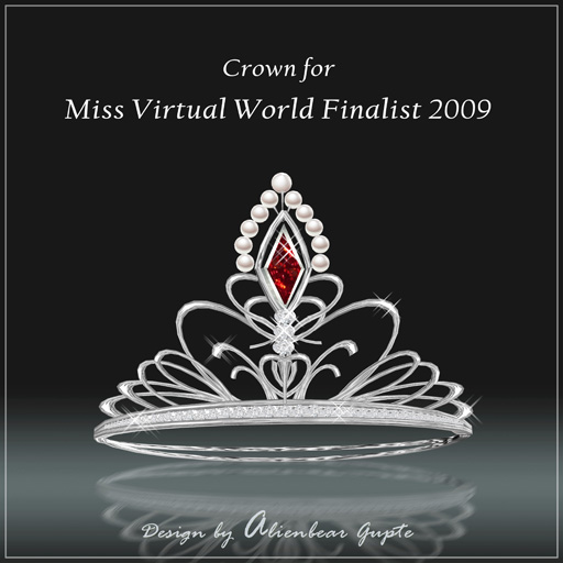 Miss Virtual World Finalist Crown