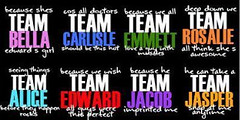 what team are you on? (cs v s  ) Tags: teams twilight jasper alice jacob edward bella carlisle emmett rosalie cullens