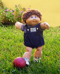 HUGO PETER (THe cUriOUs OYsTEr) Tags: boy baby playing cute kids fuzzy soccer cabbage roberts xavier patch futbol cpk coleco fujifilmfinepixs5700 19781982 thecuriousoyster appalachianartworks