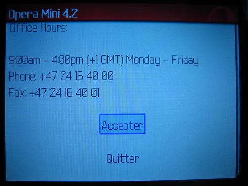Télécharger et installer Opera Mini sur Blackberry Curve 8310 08