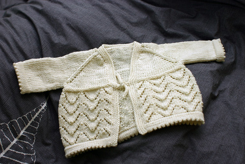 Helena baby sweater, finished