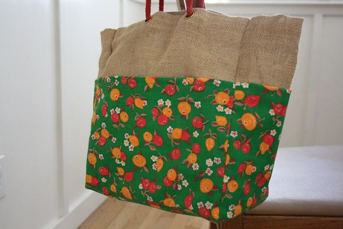 burlap bag makeover