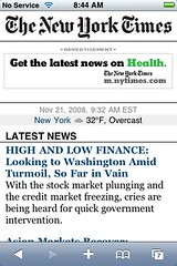 New York Times Mobile for iPhone