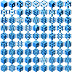 D20081123A (davebollinger) Tags: geometric box geometry cube recursion hexagon recursive isometric processingorg