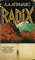 Radix - A. A. Attanasio (sarcoptiform) Tags: fiction art book design artwork graphics library libro books science front scan paperback jacket fantasy cover scifi font type fi title sleeve sci
