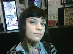 IMG00498.jpg (thirdcoastknuckles) Tags: tattoo byrd skinhead skingirl throattattoo skinbyrd