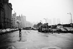 * (lyinker) Tags: street people bw rain shanghai documentary fave