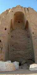 Buddahs of Bamiyan, Afghanistan (Carl Montgomery) Tags: autostitch afghanistan war asia central centralasia bamiyan wartorn