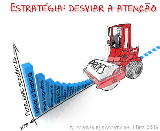Estratégia: desviar a atenção