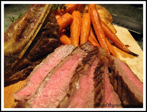 Grilled Ribeye Steak with Baby Carrots