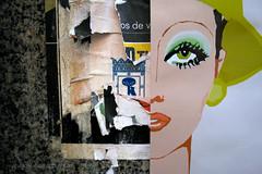 madrileñas (Josue Lozano) Tags: madrid eve urban streetart green art collage poster spain power decay arts billboard posters billboards torn critical mujeres stereotype lozano josue madrileñas madrilenas josuelozano
