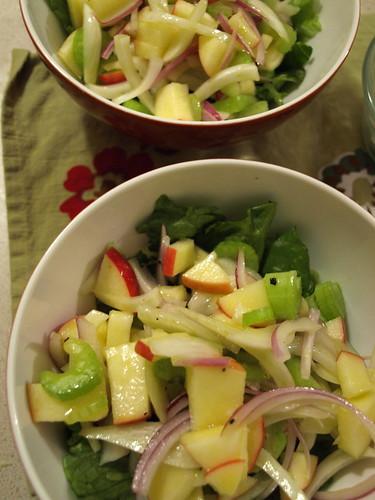 simple apple, fennel salad
