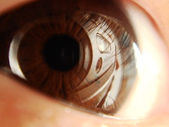 Eye project Day 15 - (2002ttorry) Tags: brown eye project sony reflect eyeball half day15 dsc  t50 sonydsct50