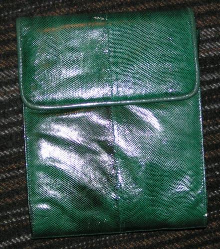 Grön väska.